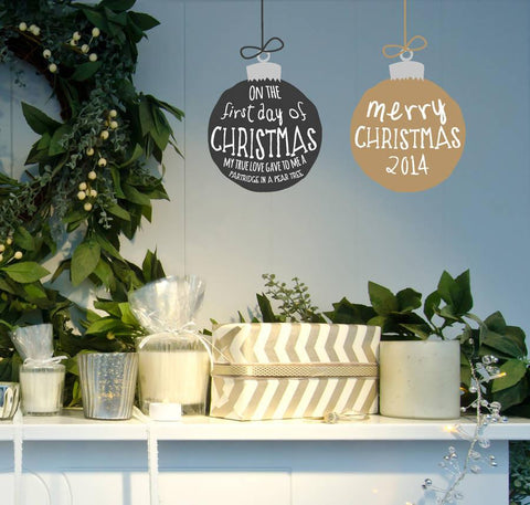 Christmas Bauble Wall Sticker - Oakdene Designs - 1