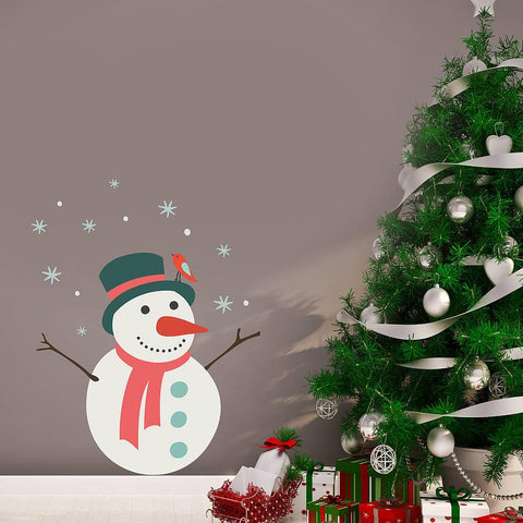 Christmas Snowman Wall Sticker - Oakdene Designs - 1