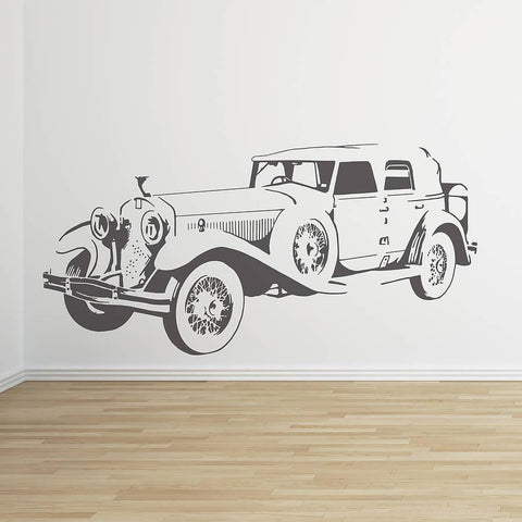 Classic Rolls Car Vinyl Wall Sticker - Oakdene Designs - 1