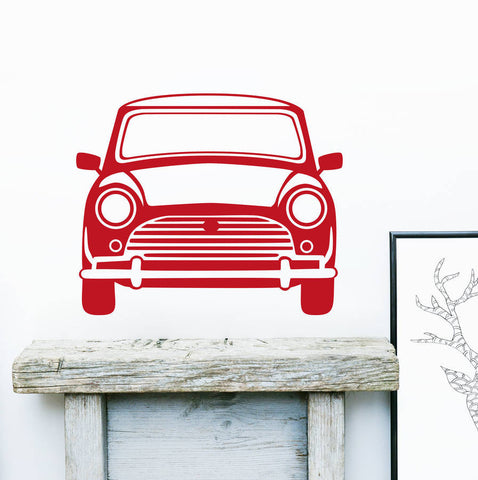 Classic Mini Vinyl Wall Sticker Front