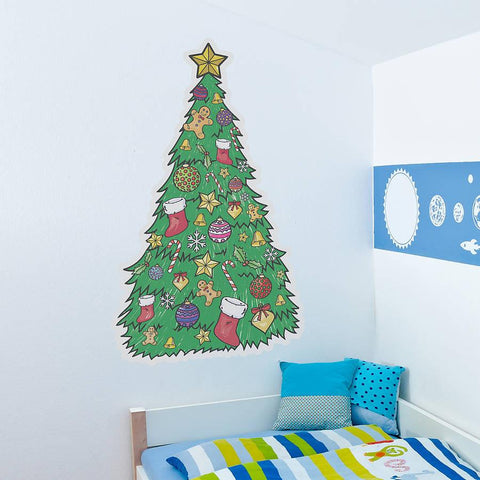 Colour In Christmas Tree Wall Sticker - Oakdene Designs - 1