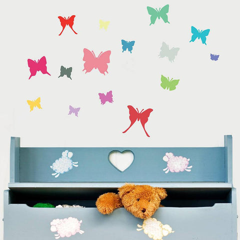 'Colourful Butterfly' Wall Sticker Set - Oakdene Designs - 1
