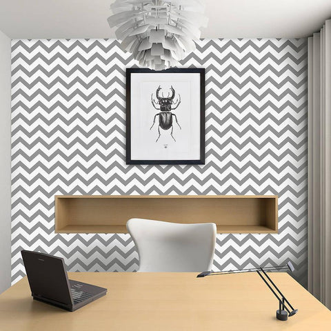Contemporary Chevron Self Adhesive Wallpaper - Oakdene Designs - 2