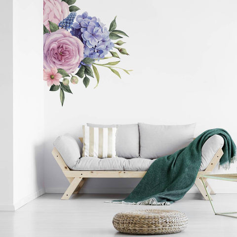 Corner Floral Wall Sticker