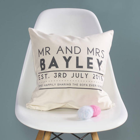 Couples Established Wedding Cushion - Oakdene Designs - 1