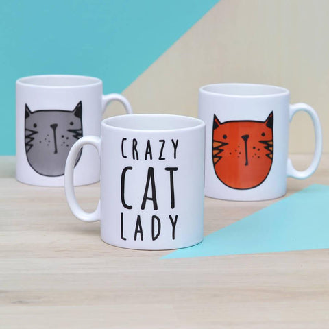 'Crazy Cat Lady' Ceramic Mug - Oakdene Designs - 1