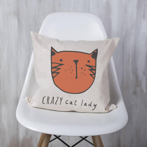 'Crazy Cat Lady' Cushion - Oakdene Designs - 1