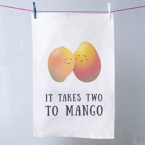 'Two To Mango' Cute Fruit Pun Tea Towel