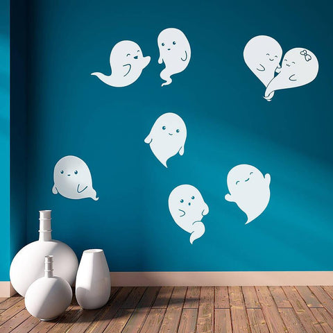 Ghosts Halloween Wall Stickers - Oakdene Designs - 1