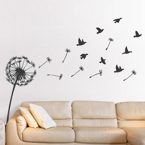 dandelion and birds wall sticker | wall stickers | wall decals