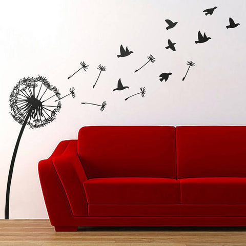 Dandelion And Birds Wall Sticker - Oakdene Designs - 1
