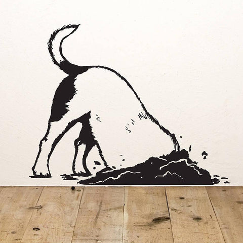 Digging Dog Vinyl Wall Sticker - Oakdene Designs - 1