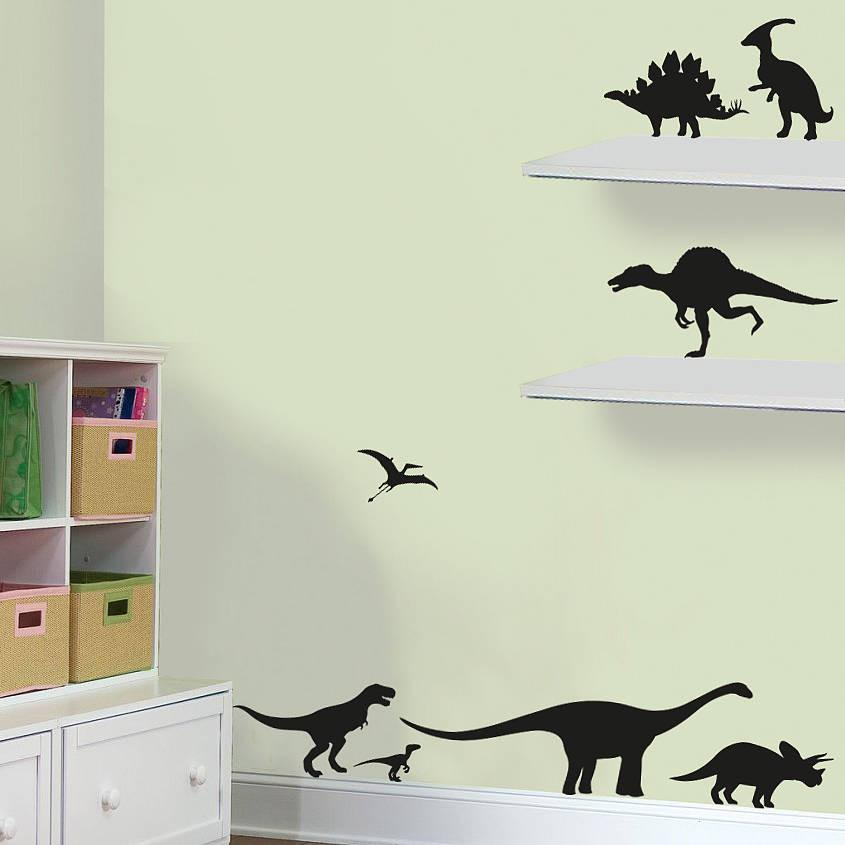 Pack of dinosaurs vinyl wall stickers oakdene designs
