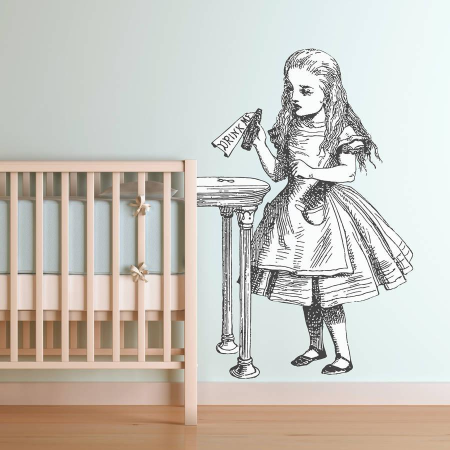 U0027Drink Meu0027 Alice In Wonderland Wall Sticker Part 10
