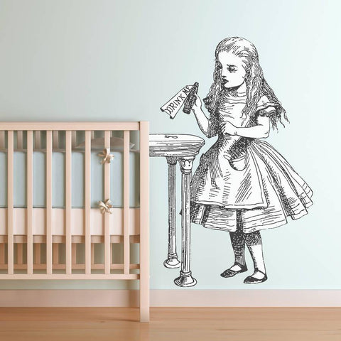 'Drink Me' Alice In Wonderland Wall Sticker