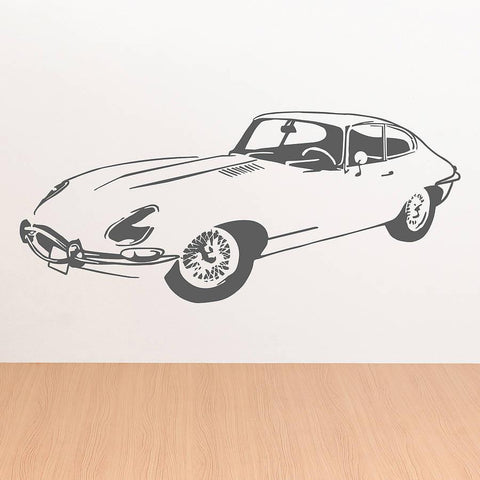 E Type Front Sports Car Vinyl Wall Sticker - Oakdene Designs - 1