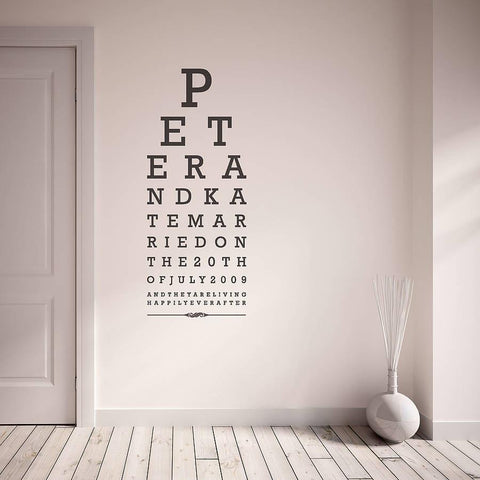 Eye Chart Wall Sticker - Oakdene Designs - 1
