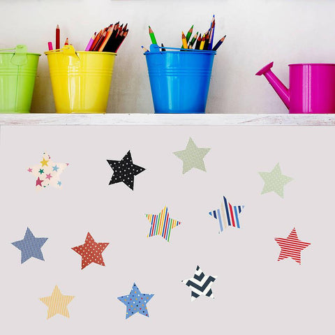 'Fabric Star' Vinyl Wall Stickers - Oakdene Designs - 1