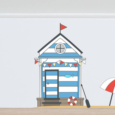 fairy beach hut wall sticker set | oakdenedesigns