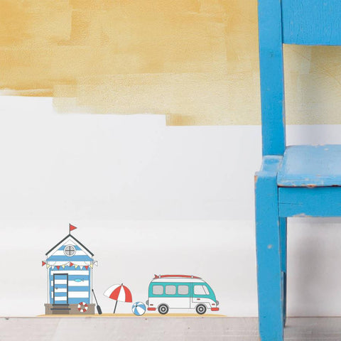 Fairy Beach Hut Wall Sticker Set