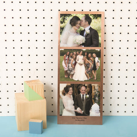 Personalised Solid Copper Photo Booth Print - Oakdene Designs - 1