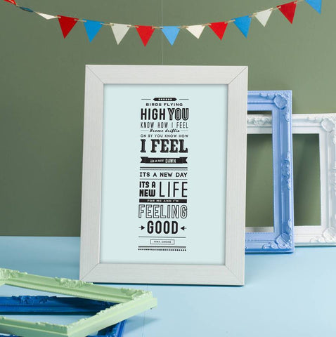 'Feeling Good' Typographic Print