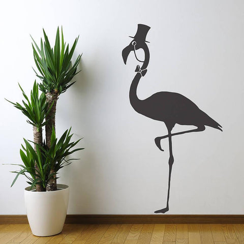 Flamingo Vinyl Wall Sticker - Oakdene Designs - 1