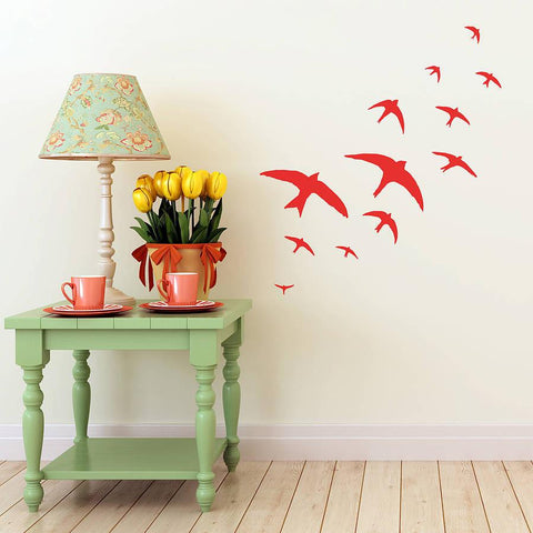 Flock Of Swifts Vinyl Wall Sticker - Oakdene Designs - 1