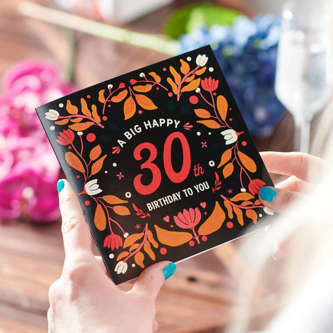 Floral 30th Birthday Age Card Sent Direct