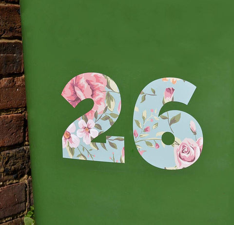 Floral Wheelie Bin Number Stickers - Oakdene Designs - 1