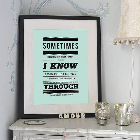 'Florence And The Machine' Typography Print - Oakdene Designs - 1