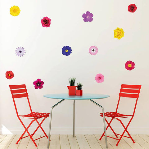 'Photo Realistic Flowers' Wall Sticker Set - Oakdene Designs - 1