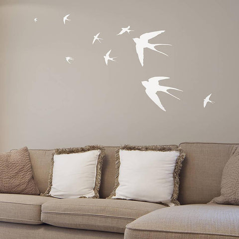 Flying Swallows Vinyl Wall Sticker - Oakdene Designs - 1