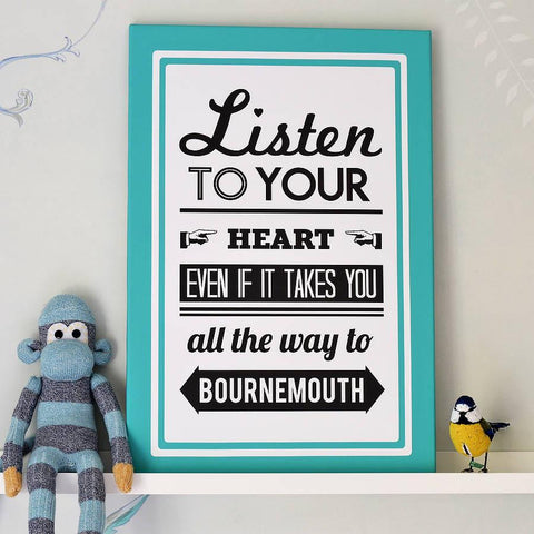 Personalised Follow Your Heart Location Print - Oakdene Designs - 1