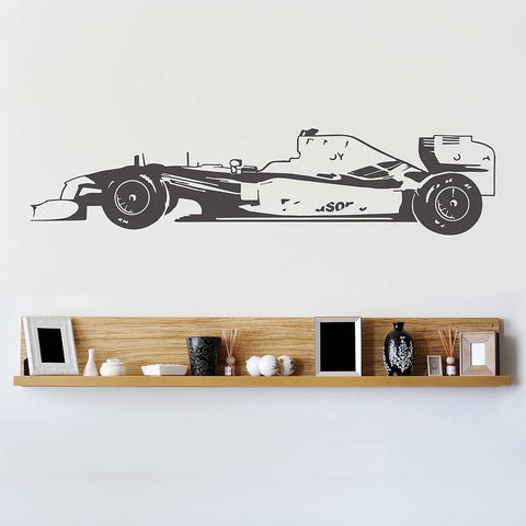 Formula One Racing Car Vinyl Wall Sticker - Oakdene Designs - 1