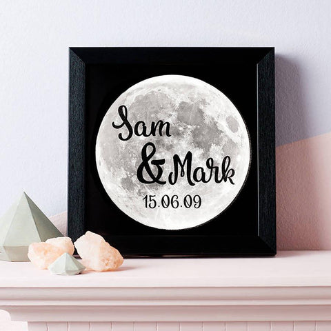 Personalised Full Moon Light Box