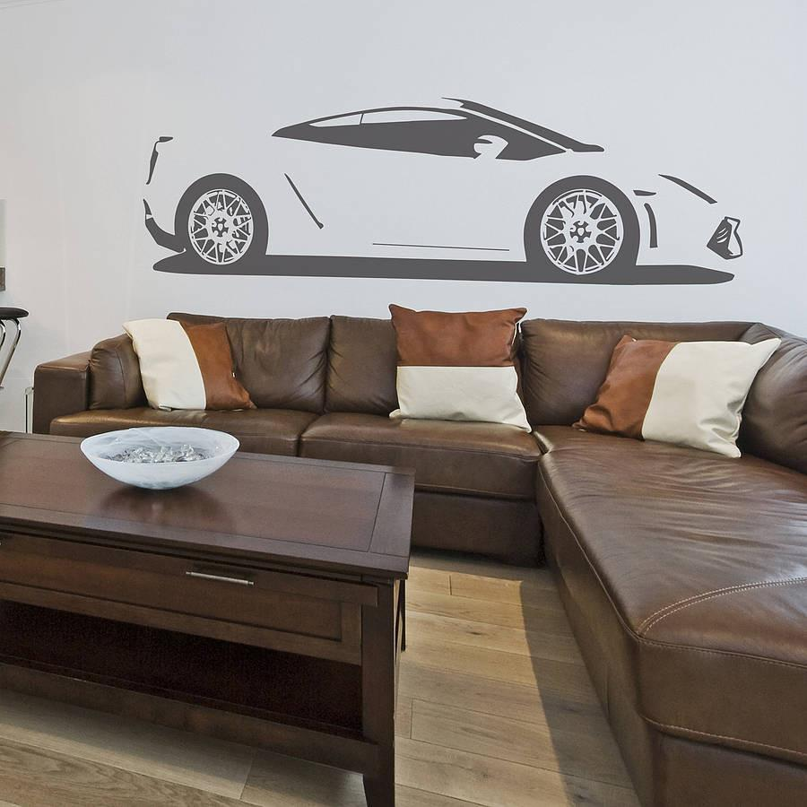 Gallardo Sports Car Vinyl Wall Sticker   Oakdene Designs   1