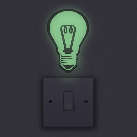 Glow In The Dark Light Bulb Wall Sticker - Oakdene Designs - 1