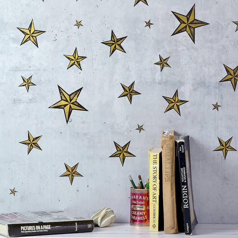 Gold Or Silver Star Wall Sticker Set - Oakdene Designs - 1