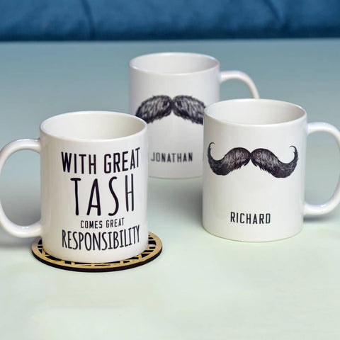 Personalised 'Great Tash' Man Mug - Oakdene Designs - 1