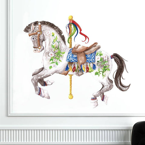 Carousel Horse Wall Sticker - Oakdene Designs - 1