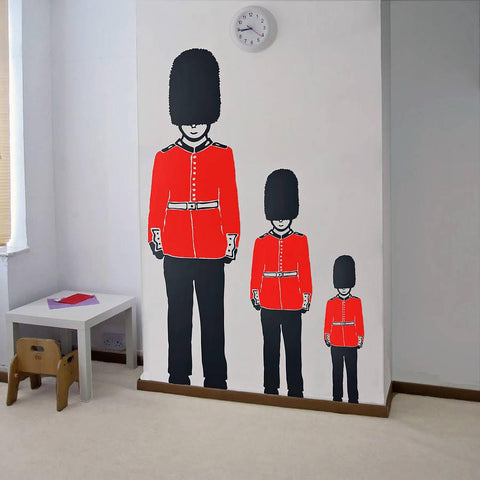 Queen's Guard Soldier Vinyl Wall Sticker - Oakdene Designs - 1