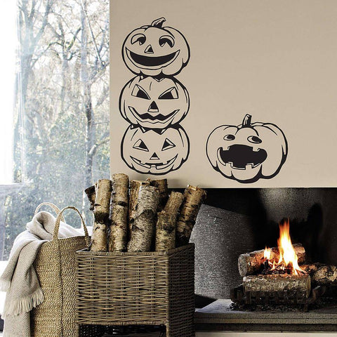 Halloween Pumpkins Vinyl Wall Stickers - Oakdene Designs - 1