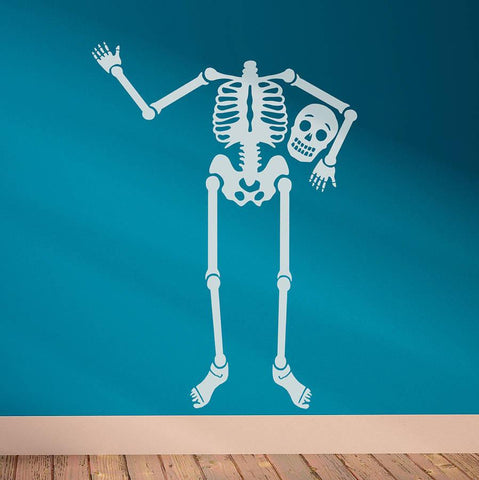 'Happy Bones' Skeleton Wall Sticker - Oakdene Designs - 1