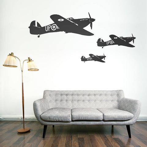 Hawker Hurricane Vinyl Wall Sticker - Oakdene Designs