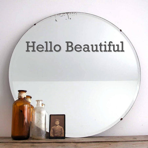 'Hello Beautiful' Mirror Sticker - Oakdene Designs - 1