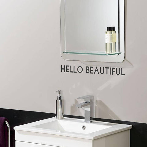 'Hello Beautiful' Mirror Sticker - Oakdene Designs - 4