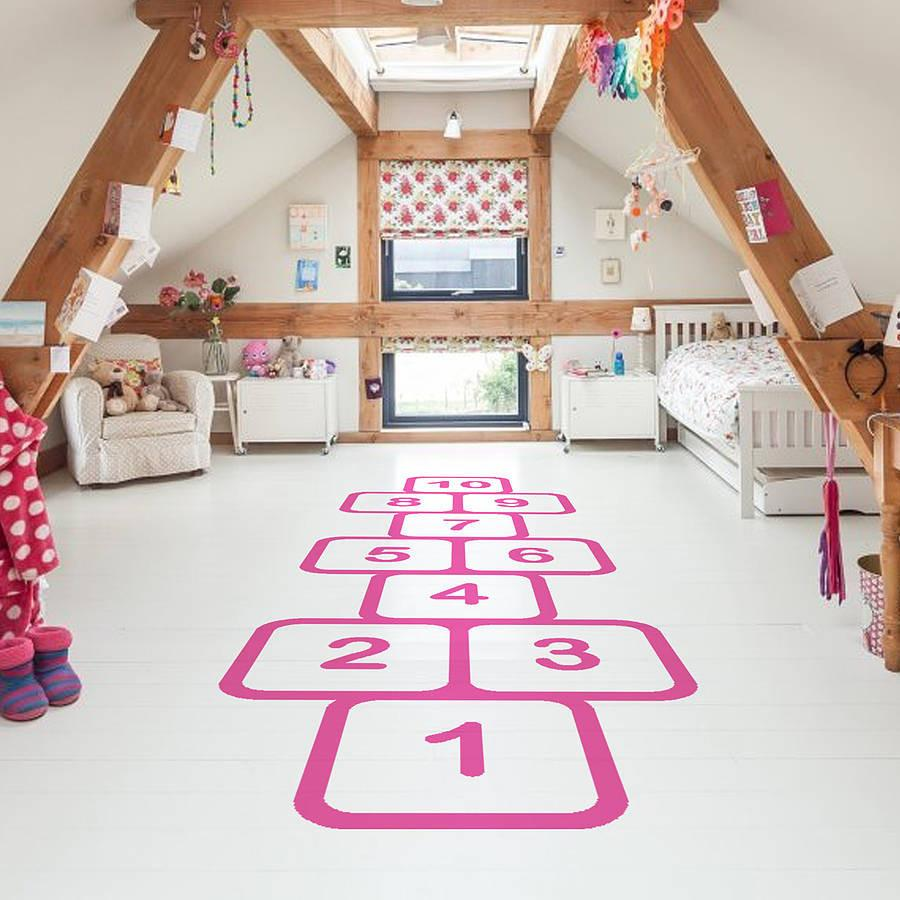 Hopscotch Vinyl Floor Sticker Wall Stickers Wall Decals