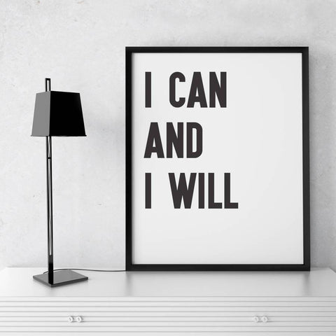 'I Can' Motivational Quote Print - Oakdene Designs - 1