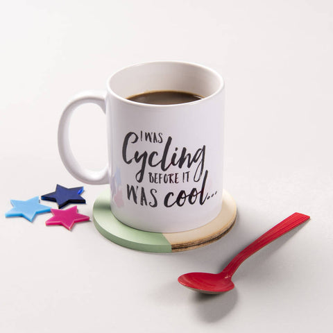 'I Was Cycling Before It Was Cool' Ceramic Mug